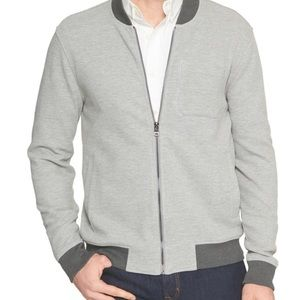 Euc Banana Republic reversible knit bomber jacket